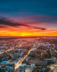 After sunset | Kaunas aerial #297/365