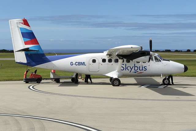 Isles of Scilly Skybus De Havilland Canada DHC-6-300 Twin Otter G-CBML at Lands End Airport EGHC/LEQ