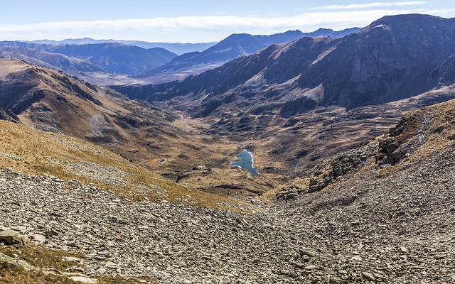 Etang du Siscar desde la collada del Pic d'Escobes, Andorra