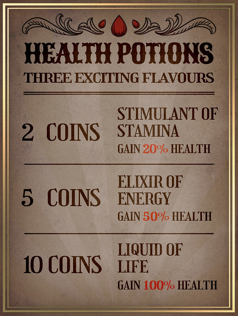 Restore Your Health With Potions!