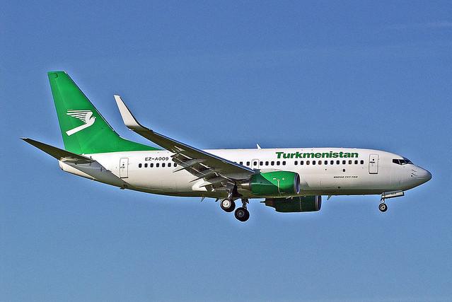 EZ-A009   Boeing 737-7GL [37235] (Turkmenistan Airlines) Birmingham Int'l~G 12/09/2009