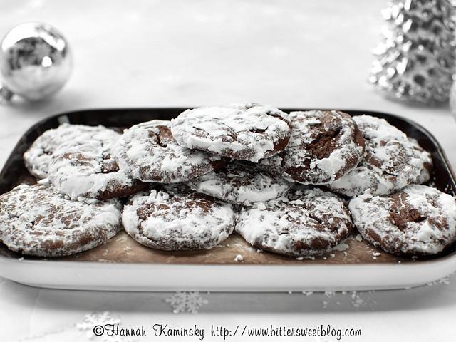 Chocolate Pfeffernüsse - Platter