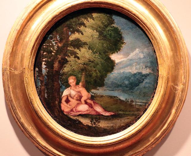 Lambert Sustris (Amsterdam, 1515-1520 circa – Padova?, 1584 circa) - Rea Silvia con Romolo e Remo- olio su tela Tela, 416 x 237 cm - Ca' Rezzonico, Venezia