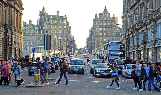 Edinburgh Street Scene.