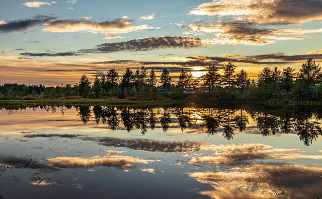 Sonnenuntergang am Luleälven