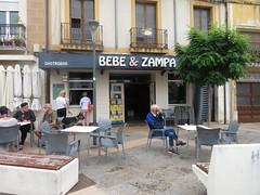 Bebe  y Zampa (Drink and Gobble) Bar/restaurant, Plaza  de Raso, Calahorra, La  Rioja, Spain.