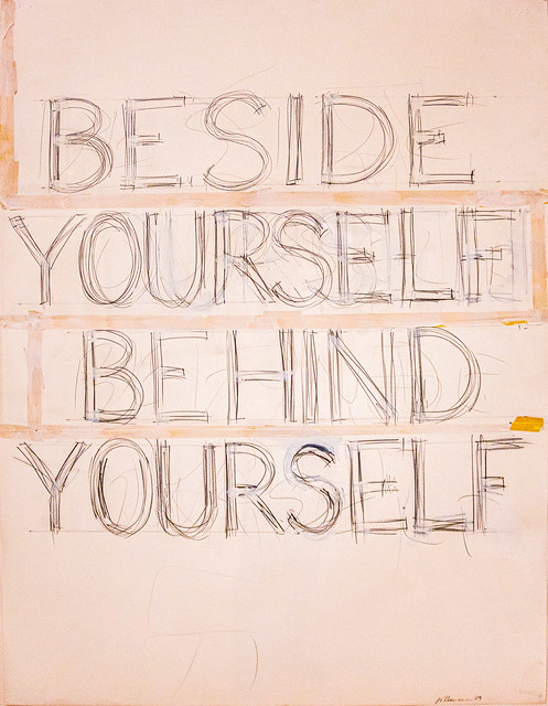 Bruce Nauman, Beside / Yourself / Behind / Yourself