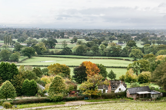 Cheshire plain view towards Manchester