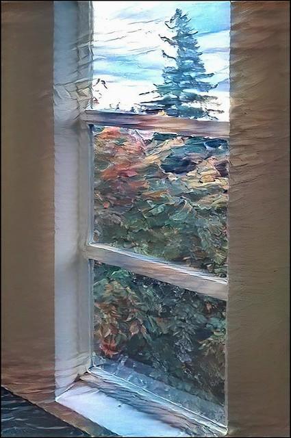 Russellville Park window view
