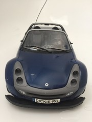 Used Dickie R/C Smart Roadster Blue 1:12 Scale