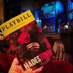 Way down to @hadestown thanks to @luckyseattickets #broadwayisback . . #broadway #theater #theatre #hadestown #waitforme #anaismitchell #playbill #iloveny #ilovenyc #curtainupbroadway #broadwayreturns #nyc