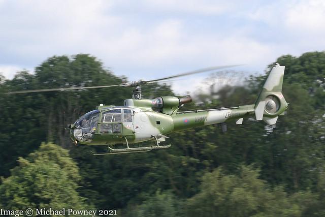ZB691 - 1981 build Westland Gazelle AH.1, Army Air 755 inbound to Barton