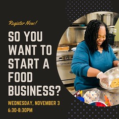One week from today! This informative 2hr class will cover the basics regarding health inspections, permits, insurance, and the rules and regulations regarding making and selling food in New York State. Weu2019re happy to offer this class again in partnership