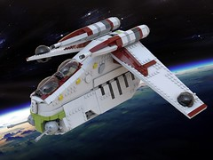 LAAT Republic Gunship Lego MOC