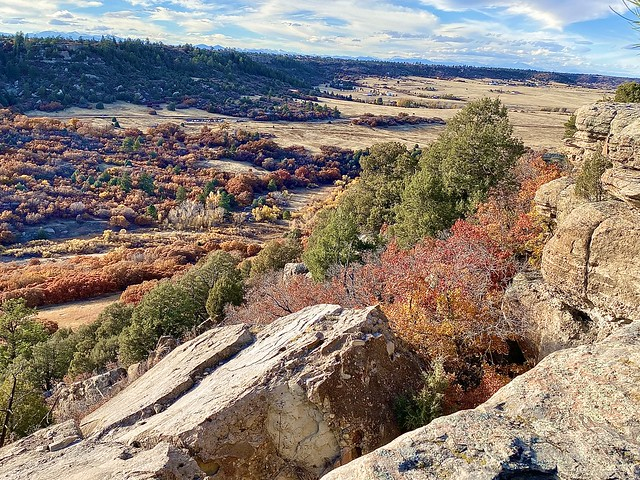 Fall colors in Colorado Castlewood Canyon