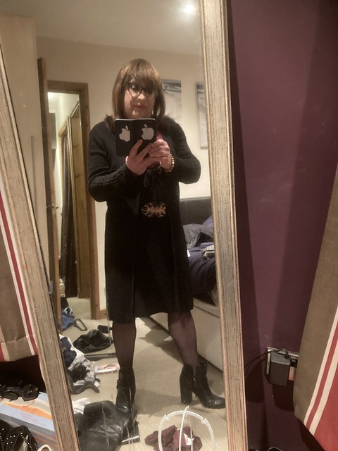 Getting ready to go out on the town,a first for me. Very Nervous I can tell you