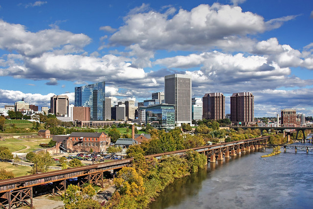 National Civil War Museum, the James River and the City Skyline-Richmond Virginia 07669
