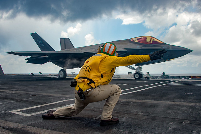 USS Carl Vinson (CVN 70) conducts flight operations in the South China Sea.