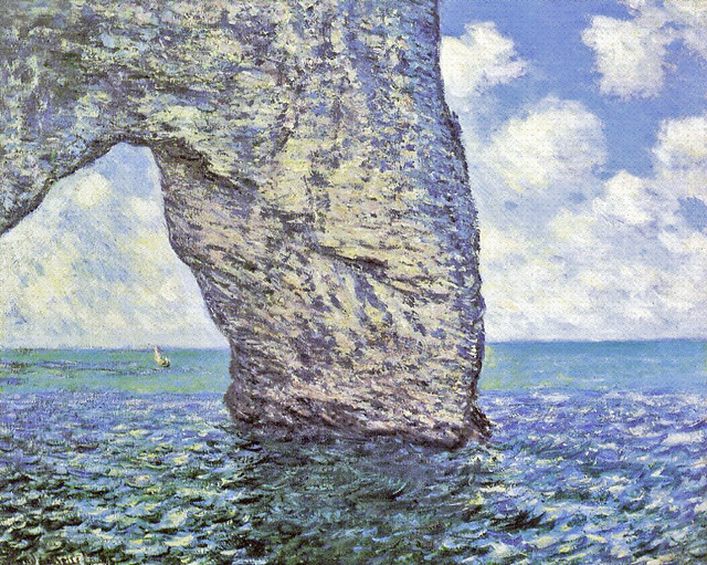 W 1035 CM 1885 The Manneport at High Tide 1d - pc Ath