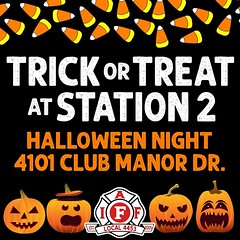 Thanks to the #Maumelle Professional #Firefighters (#IAFF Local 4453), it's all treats & no tricks #Halloween night at Fire Station 2 on Club Manor Dr. As long as they aren't on a call, firefighters will hand out candy from 5:30 pm until 8 pm (or whenever
