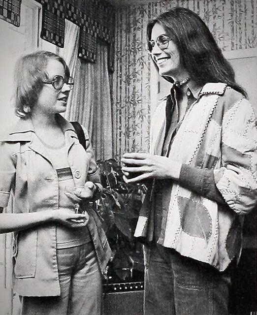 Emmylou Harris at the University of North Carolina at Greensboro, her Alma Mater, in  1976.