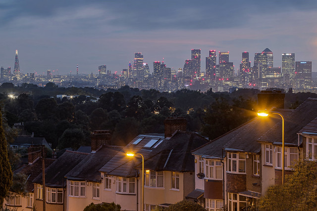 Ogni tua luce / Every light of you (London skyline from Shooter's Hill, London, United Kingdom)
