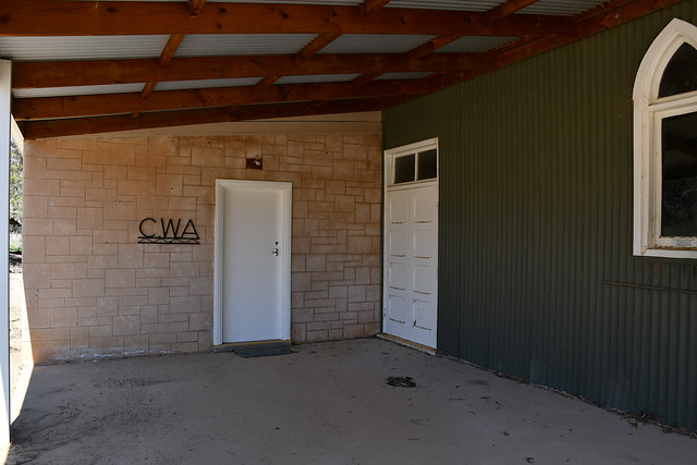 Black Hill District Hall CWA room under the verandah erected in 2012 with assistance from the Mid Murray District Council. South Australia