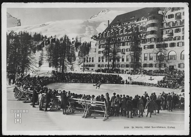 ArchivTappen25(5A)129 Hotel Suvrettahaus (front), Eisfest, St. Moritz, 23. Januar 1928