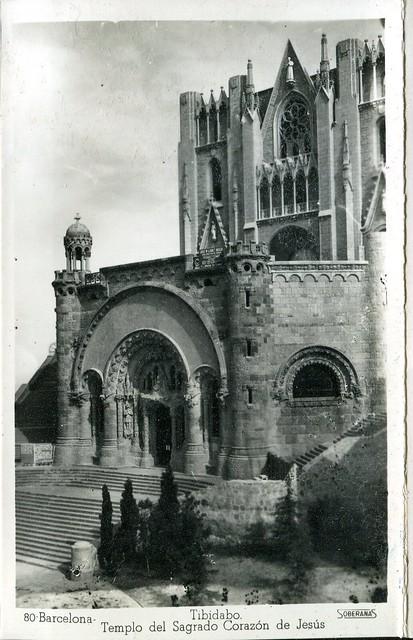 libretto ricordo - barcellona - anni '40 - tibidabo - templo del sagrado corazon de jesus