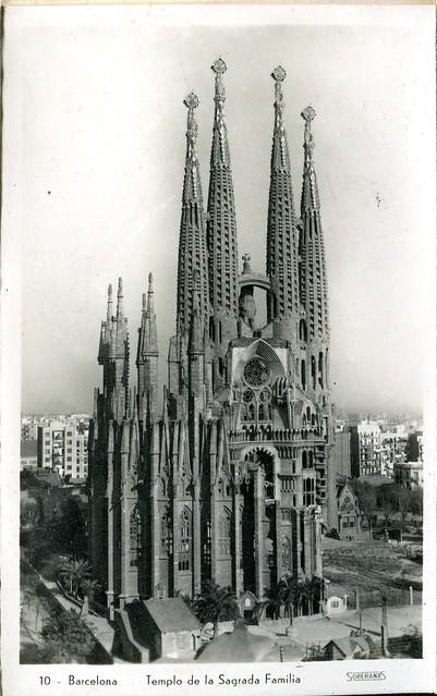 libretto ricordo - barcellona - anni '40 - templo de la sagrada familia