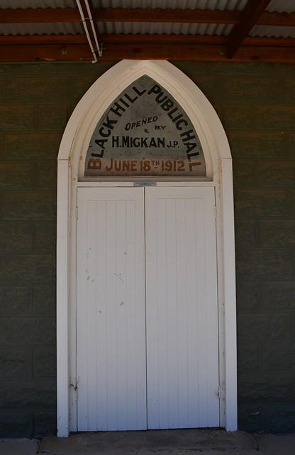 Black Hill Public Hall front entrance 1912. Mid Murray District Council Area South Australia