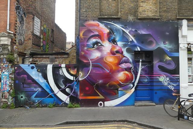 Mr Cenz graffiti, Shoreditch