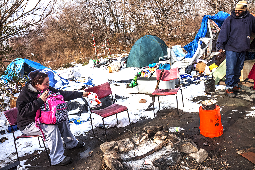 Tent-city-by-freeway--Camden