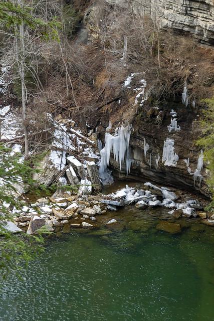 Icicles at Cummins Falls, Jackson Co, TN