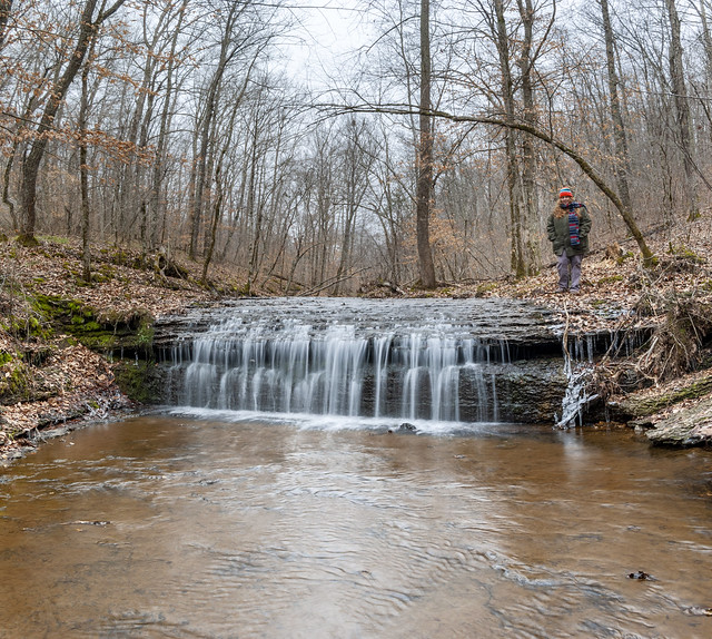 Alexis Lienhart, Unnamed waterfall, Stillhouse Hollow Falls State Natural Area, Maury County, Tennessee