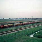 NS/SBB TEE Treinstellen bij Barendrecht, 1974.