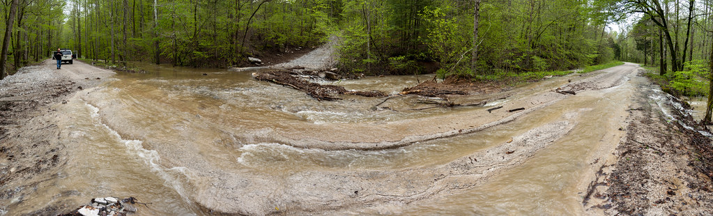 Whites Cave Road washed out, Dry Creek, White County, Tennessee 1