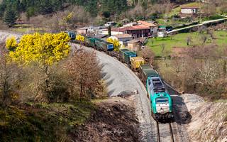 Alpha Trains 335-008-9 (Renfe). Vacío Sogama - Taboadela.