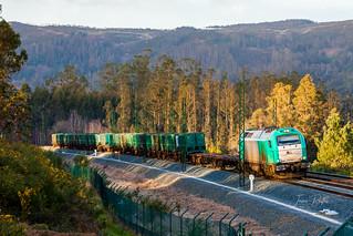 Alpha Trains 335-007-1 (Renfe). Vacío Sogama - Taboadela.
