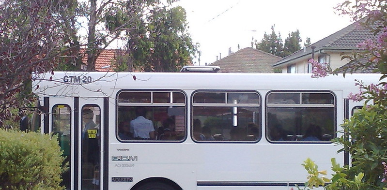 Bus going past my house