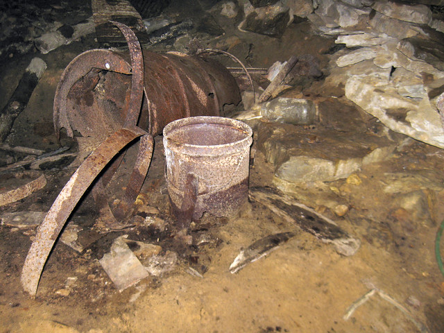 Abandoned moonshine still 2, Shiner's Wall Cave, Dekalb Co, TN