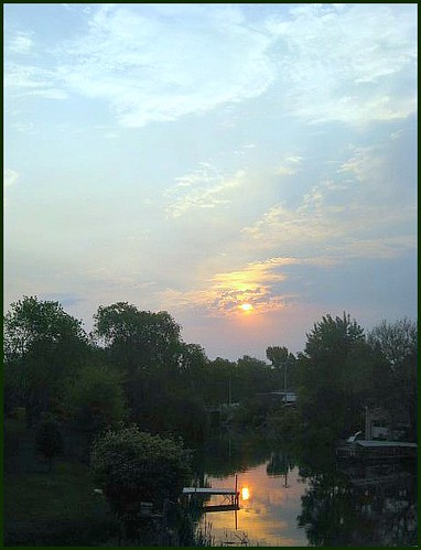 blue sun nature wisconsin clouds sunrise countryside waterscene