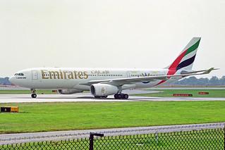 A6-EKW 1 Airbus A330-243 Emirates Airline MAN 27JUL00