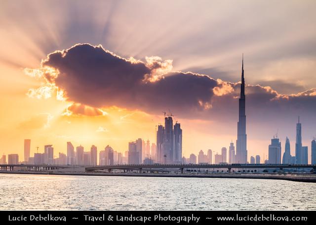 United Arab Emirates - UAE - Dubai - Burj Khalifa at Sunset