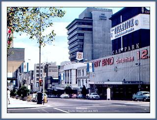 Bourke Street westwards from Exhibition Street intersection, Melbourne. [Vintage photo Feb-Mar.1973]