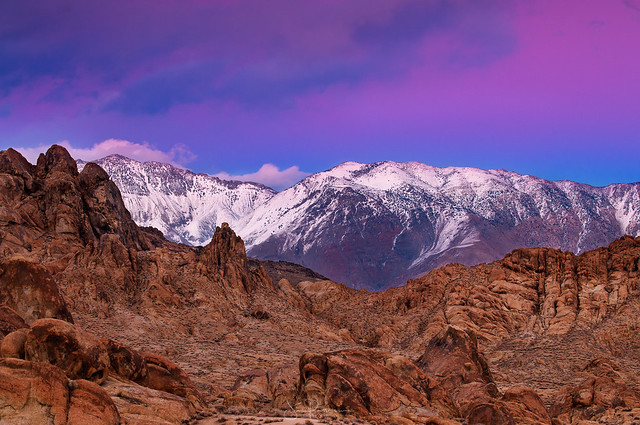 Purple Mountains' Majesty - Alabama Hills, Lone Pine, California