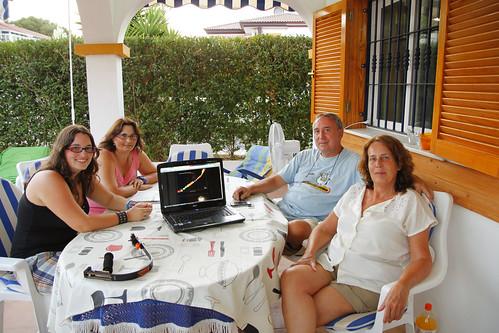 Con Marta y Janire Paskua