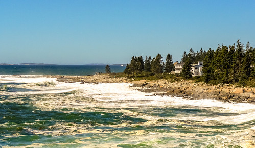View from Pemaquid Point Lighthouse Park in Bristol, Maine