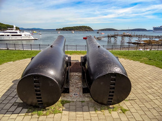 Cannons Once Used to Guard Frenchman Bay