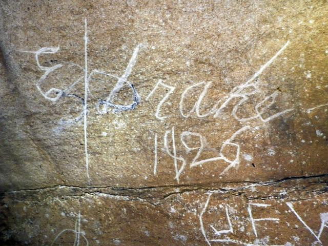 Historic Signature, Hubbards Cave, Hubbard's Cave Preserve, Warren County, Tennessee 3